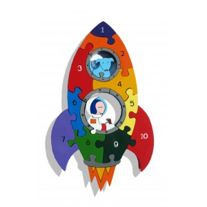 Number Jigsaw - Rocket by Alphabet Jigsaws, Suitable for Aged 2+