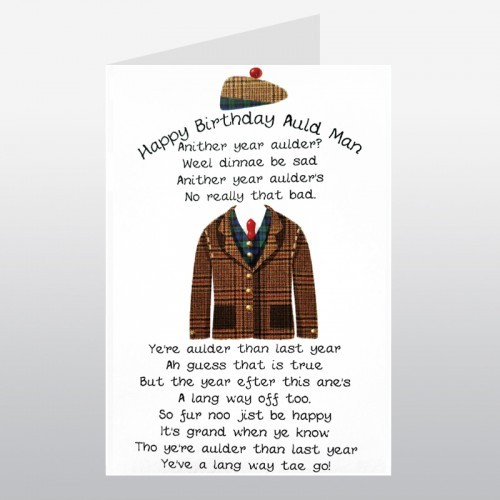 Happy Birthday Auld Man Scottish Birthday Card