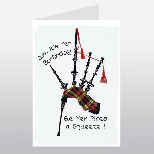 Happy birthday bagpipes scottish birthday card greetings cards happy birthday bagpipes scottish birthday card m4hsunfo