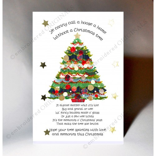christmas tree poem scottish christmas card