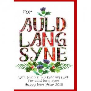 auld lang syne scottish hogmanaynew year card